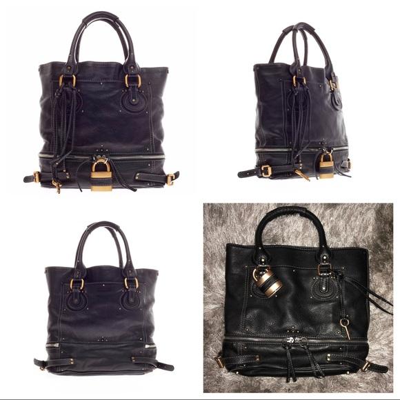 04836609 Authentic Black Chloe Paddington Zip Tote